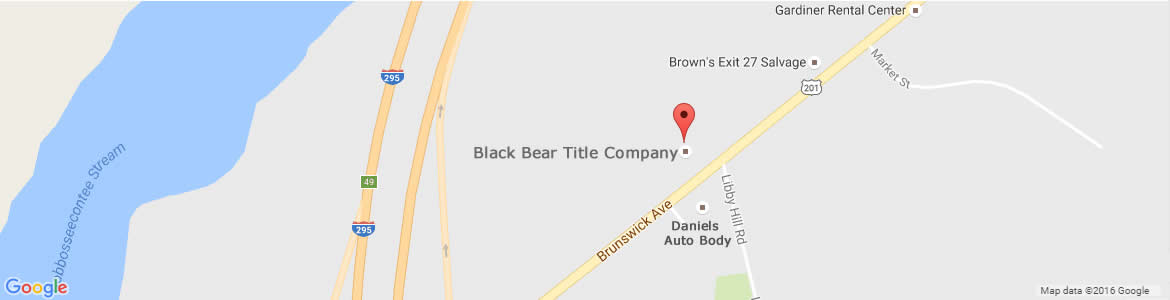 Map to Black Bear Title Company.